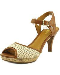 Chaps - Marilynn Open Toe Leather Sandals - Lyst