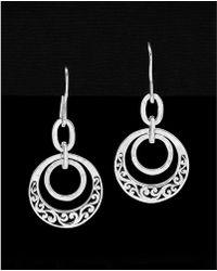 Lois Hill - Silver Drop Earrings - Lyst