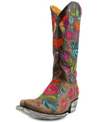 """Old Gringo - Pajaro 13"""" Square Toe Leather Western Boot - Lyst"""