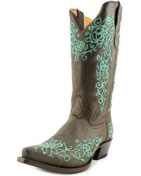 Roper - Bouquet Snip Toe Women Pointed Toe Leather Brown Western Boot - Lyst