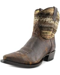 """Roper - Snip Toe 7"""" Shaft Women Pointed Toe Leather Ankle Boot - Lyst"""