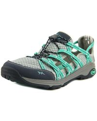 Chaco - Outcross Evo Free Women Round Toe Canvas Grey Hiking Shoe - Lyst