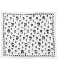 Alexander McQueen - Classic Skull Silk Blend Scarf - Lyst
