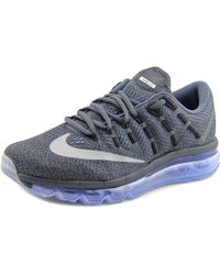 Nike - Air Max 2016 Women Round Toe Synthetic Black Running Shoe - Lyst