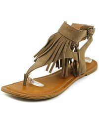 Restricted - Kill It Women Open Toe Suede Thong Sandal - Lyst