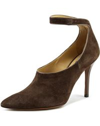 Enrico Lugani - Vall100 Pointed Toe Suede Heels - Lyst