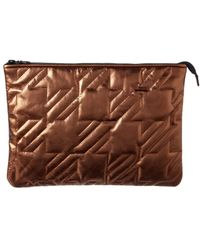 Maje - Gutan Quilted Leather Clutch - Lyst