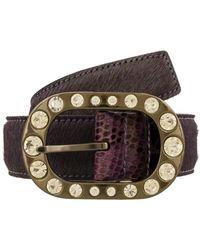 Renato Balestra - Suta Vl Nr Purple/black Leather Womens Belt - Lyst