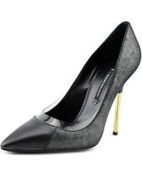 Diego Dolcini - Fw36002 Pointed Toe Leather Heels - Lyst