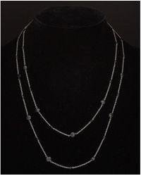 Argento Vivo - Silver Black Spinel 48in Necklace - Lyst