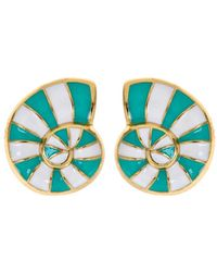 Fornash - Plated Enamel Earrings - Lyst