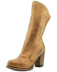 Bed Stu - Cobbler Pointed Toe Leather Knee High Boot - Lyst
