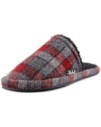 Woolrich - Chatham Slide Men Round Toe Canvas Grey Slipper - Lyst