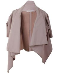 DROMe - Women's Pink Leather Cardigan - Lyst