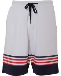 Iceberg - Men's D01163041101 White Cotton Shorts - Lyst