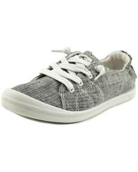 Roxy - Bayshore Women Round Toe Canvas Grey Trainers - Lyst