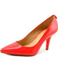 MICHAEL Michael Kors - Flex Mid Pump Pointed Toe Patent Leather Heels - Lyst