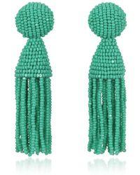 Oscar de la Renta - Women's Green Other Materials Earrings - Lyst