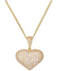Diana M. Jewels - Yellow Gold Diamond Pendant - Lyst