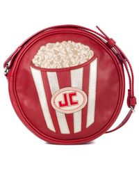 Just Cavalli - Red Leather Popcorn Round Crossbody Bag - Lyst