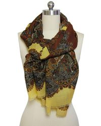 Saachi - Women's Rustic Paisley Scarf - Lyst