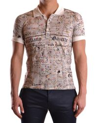 John Galliano - Men's Mcbi130101o Multicolor Cotton Polo Shirt - Lyst