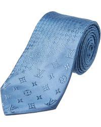 Louis Vuitton - Blue Silk Tie - Lyst