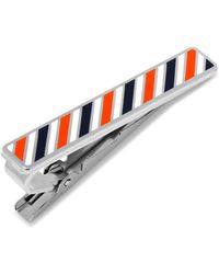 Ox and Bull Trading Co. - Varsity Stripes Navy, Orange, And White Tie Clip - Lyst