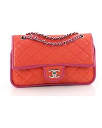 Chanel - Pre Owned Vintage Two Tone Classic Double Flap Bag Quilted Lambskin  Medium - Lyst 57604407638ee