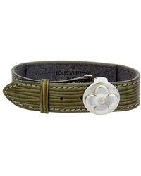 Louis Vuitton - Green Cyber Epi Leather Good Luck Bracelet - Lyst