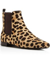 Tory Burch - Orsay Leopard Print Calf Hair Chelsea Booties - Lyst