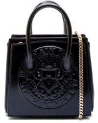 Balmain - Women's Black Leather Handbag - Lyst