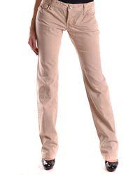 Pinko - Women's Mcbi242050o Beige Cotton Jeans - Lyst