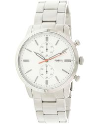 Fossil - Men's Townsman Fs5346 Silver Stainless-steel Japanese Quartz Fashion Watch - Lyst