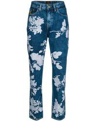 Vivienne Westwood - Women's Blue Cotton Jeans - Lyst