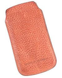 Brunello Cucinelli - Classic Tan Pebbled Leather Phone Sleeve Case - Lyst