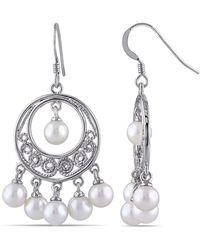 Catherine Malandrino - White Freshwater Cultured Pearl Chandelier Earrings - Lyst