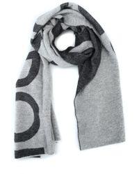 Dondup - Women's Grey Wool Scarf - Lyst