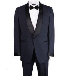 Tom Ford - Navy Wool Satin Shawl Lapel O Connor Tuxedo - Lyst