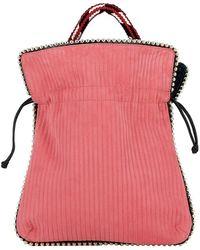 Les Petits Joueurs - Women's Red Suede Handbag - Lyst