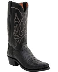 Lucchese - Men's Ultra Belly Leather Tail Western Style Boot - Lyst