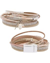 Saachi - Sacramento Faux Leather Bracelet - Lyst