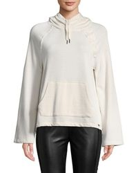 Betsey Johnson - Performance Hooded Cotton Sweater - Lyst