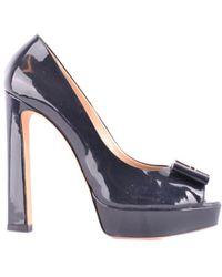 Elisabetta Franchi   Women's Black Patent Leather Pumps   Lyst