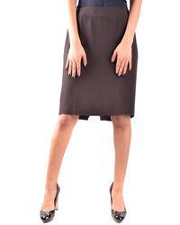 Armani - Women's Mcbi024171o Brown Acetate Skirt - Lyst
