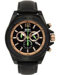 Brandt & Hoffman - Men's Brown And Black Swiss Chronograph 'priestley' Watch - Lyst