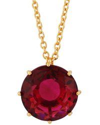 Les Nereides - La Diamantine Grenadine Round Stone Long Necklace - Lyst
