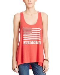 Denim & Supply Ralph Lauren - Land Of The Free Graphic Cotton Tank Top - Lyst