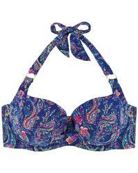 Marie Meili - Blue Bra Balconnet Swimsuit Top Bali Wire - Lyst