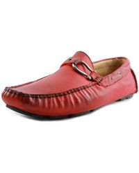 Bacco Bucci - Palm Beach Men Moc Toe Leather Red Loafer - Lyst